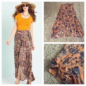 Dresses & Skirts - Floral print wrap skirt